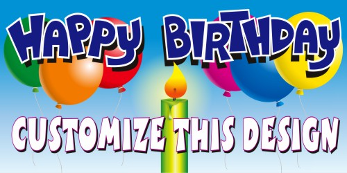 Birthday and Party Designs MakeSigns - birthday party design