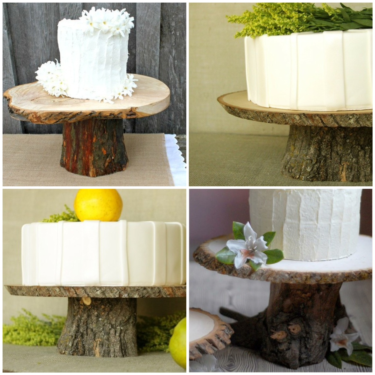 Couchtisch Cake Rustic Wood Cake Stands 43 A Diy Glitter Inc