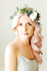 Floral Crown + Soft Pink Hair | Glitter, Inc.Glitter, Inc.
