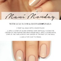 Mani Monday: Nude and Silver Striped Nail Tutorial - Lulus.com Fashion Blog