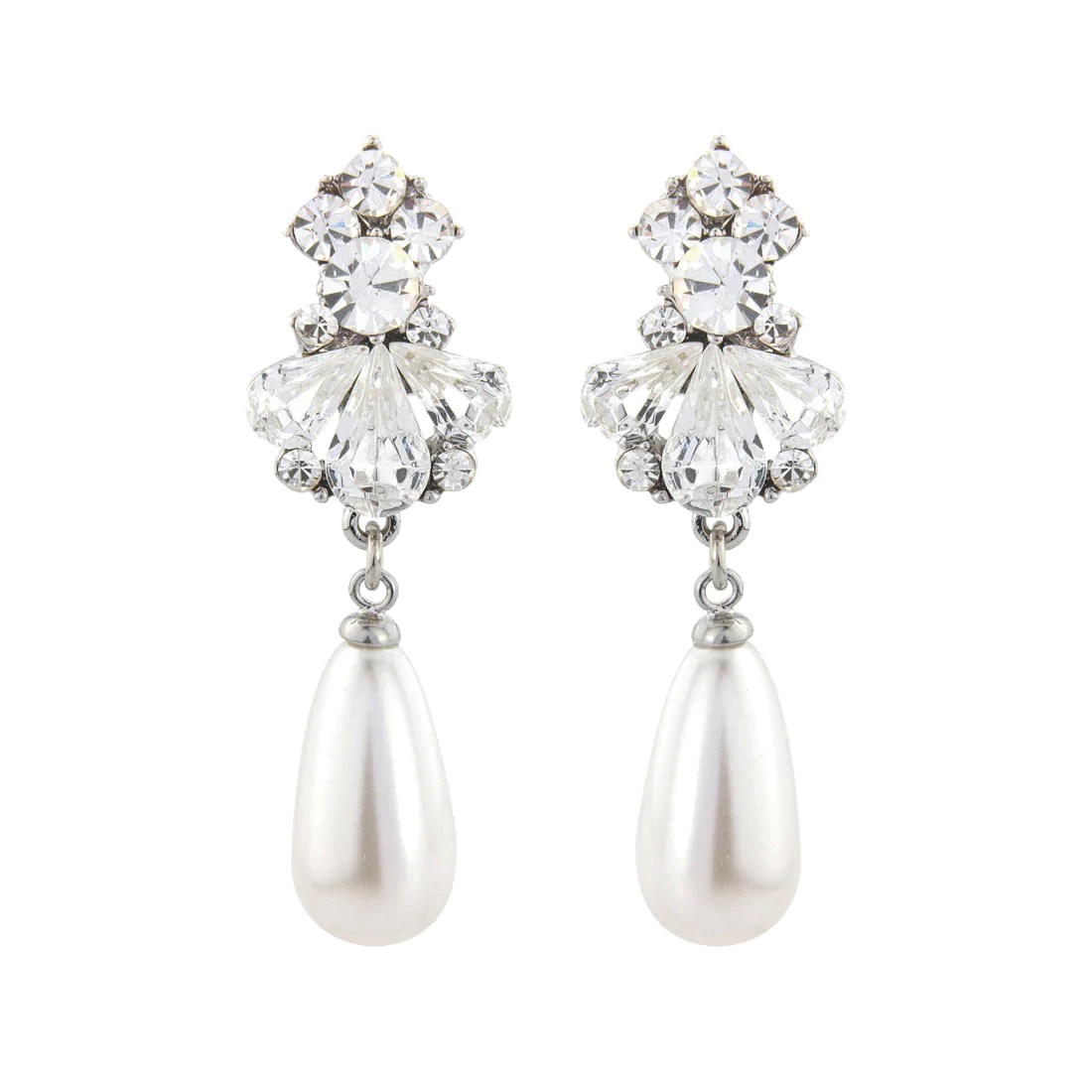 Art Deco Style Earrings Uk Bridal Wedding Earrings Glitzy Secrets Uk