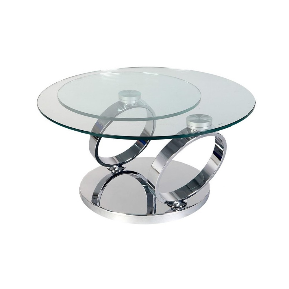 Table Basse Ronde En Verre Design Table Basse Ronde Modulable Table Basse En Pin Trendsetter