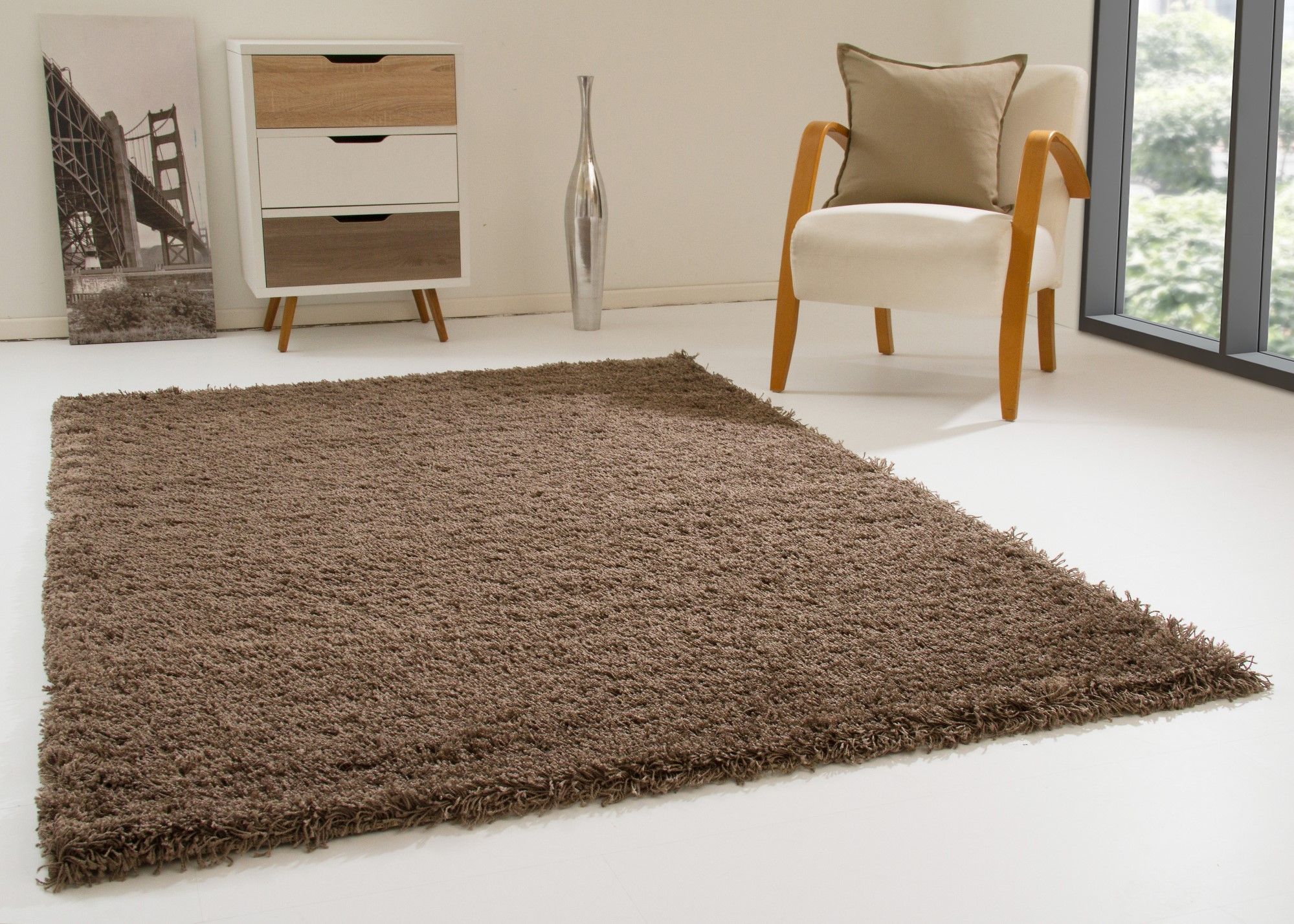 Hochflor Teppich Definition Shaggy Rug Happy Xl Thick Soft Pile Small Extra Large New