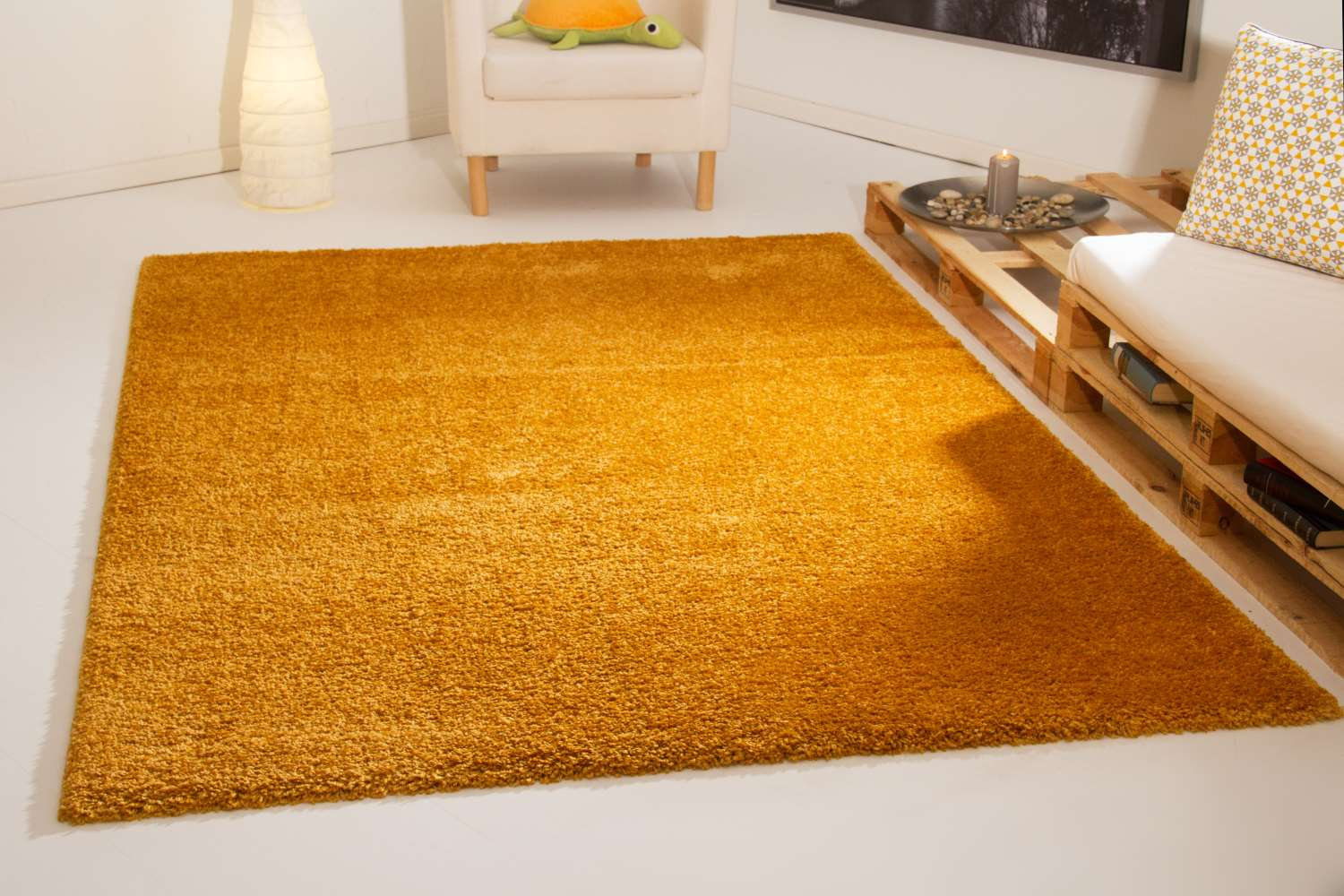 Shaggy Teppich Platt Hochflor Teppich Super Cosy Global Carpet
