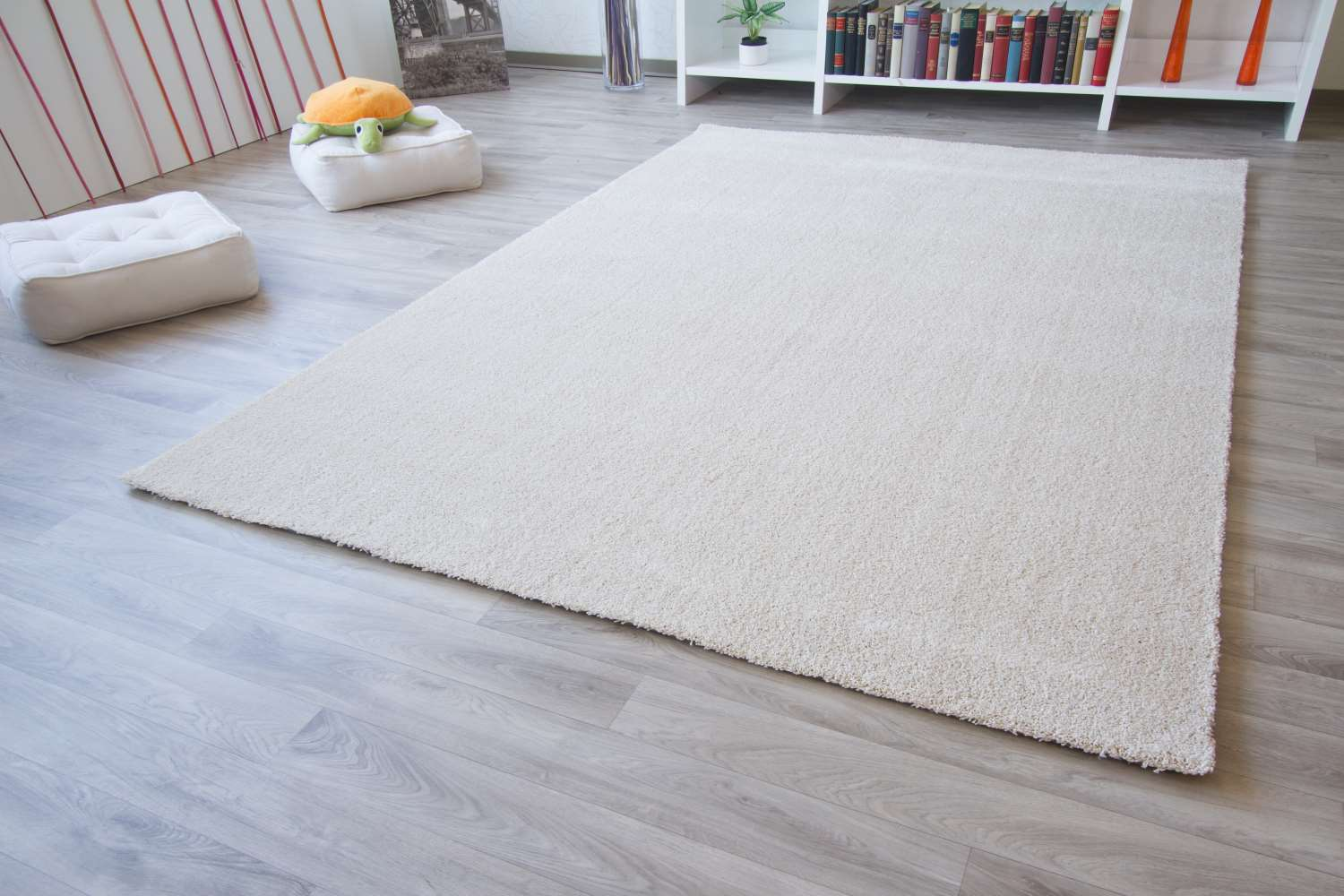Grauer Teppichboden Hochflor Teppich Happy Xl Global Carpet