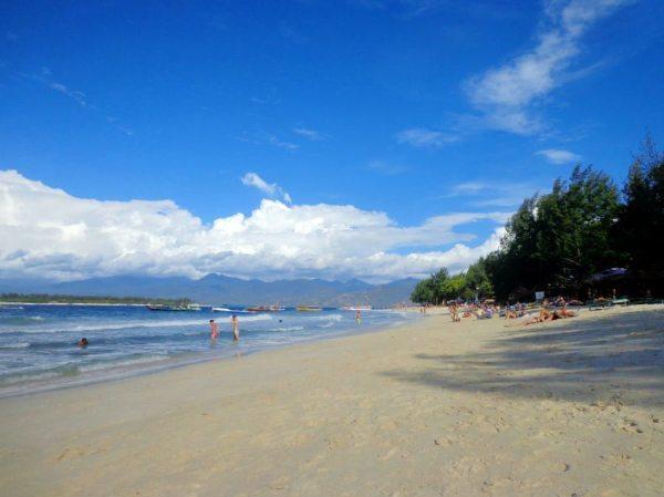 The beach at Gili Trawangan, Indonesia