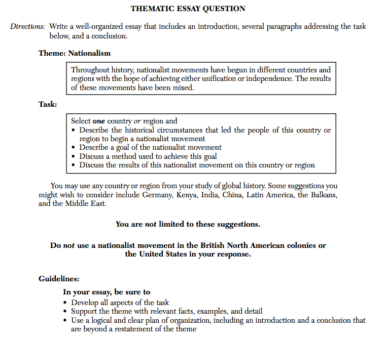 how to write thematic essay for global regents Writing a hypothesis for a research paper global history regents thematic essay professional term paper writing service service quality management essay.