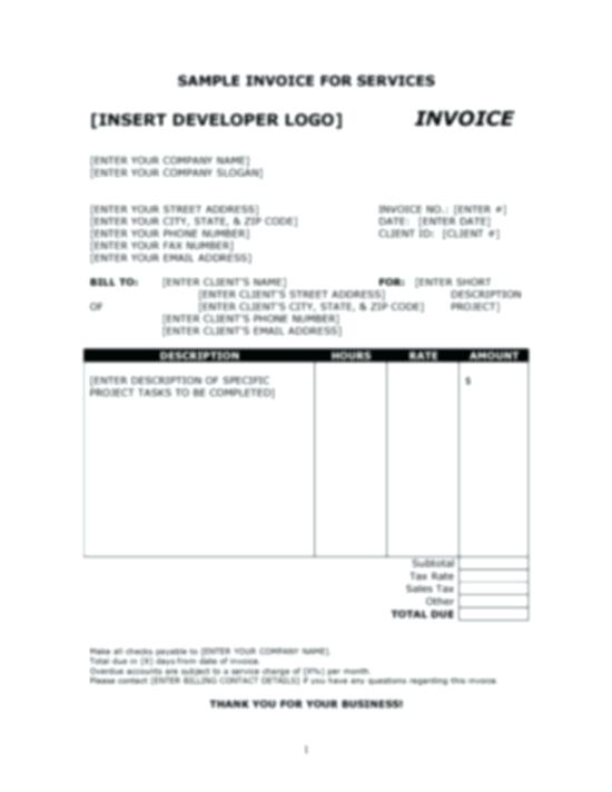 Download Marketing Invoice Template - Bonsai