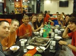 Eating Hotpot at Chengdu