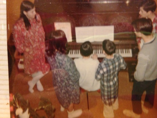 Singing carols 1966 (I'm playing the piano)