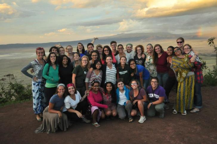My IHP group at the Ngorongoro crater in Tanzania
