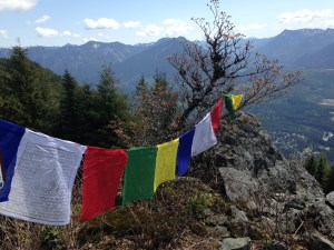 Prayer flags, from the Cascades to the Himalayas