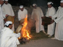 Drummers prepare