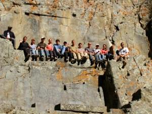 Group in Ollanta Ruins