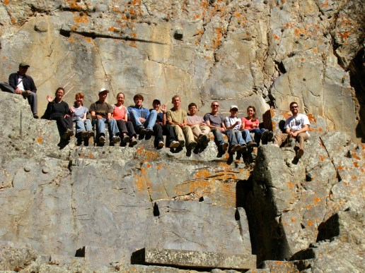 Group in Ollanta Ruins