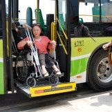 Accessible bus for persons with disabilities (Photo credit: China.org.cn)