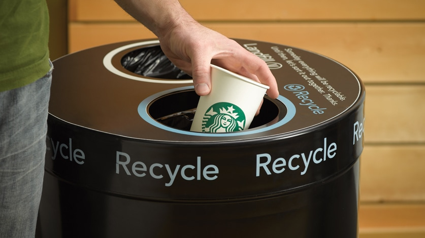 Recycling Reducing Waste Starbucks Coffee Company