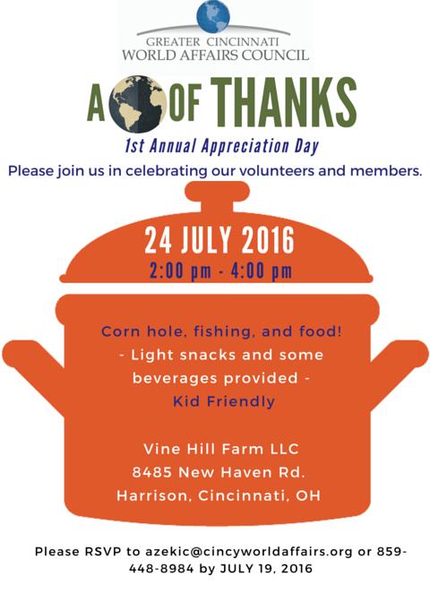 GCWAC Volunteer Appreciation Day Invite