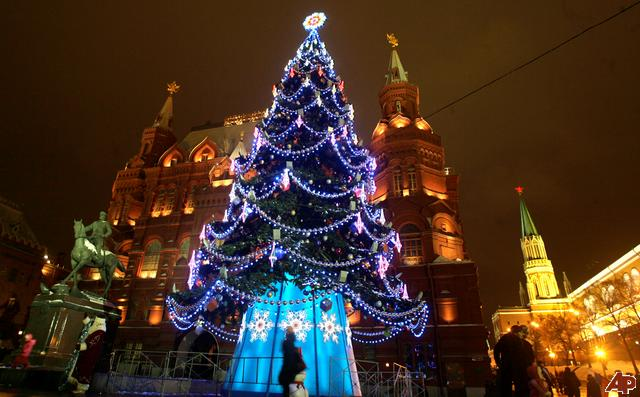 Russian New Years Eve tree
