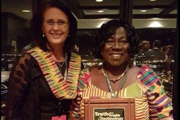 Mary Boote (CEO Global Farmer Network) and Lydia Sasu from Ghana, 2015 Kleckner Award recipient.