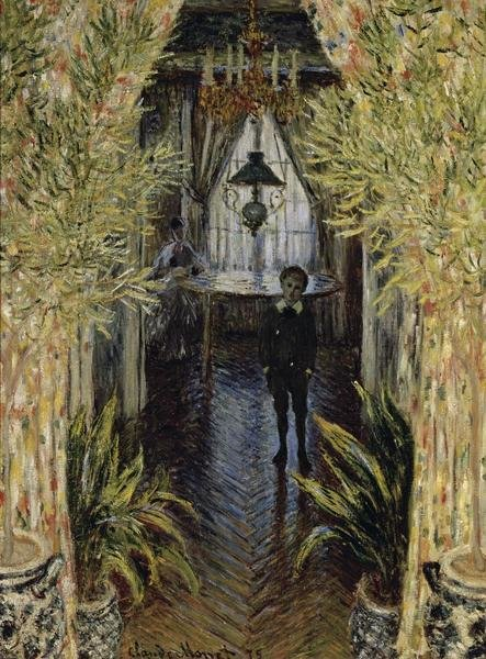 Asian Decor Claude Monet - A Corner Of The Apartment - Art Print
