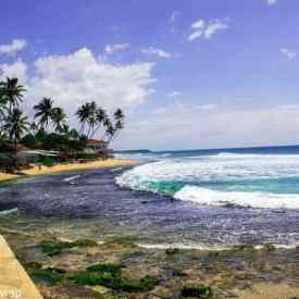The beach in Galle, Sri Lanka