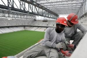 Brazil WCup Delayed Stadium