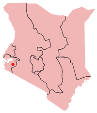 This map shows Kenya, and the city of Kisii. Map credit: Wikipedia/Acntx