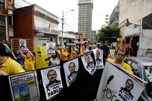 Protest for the killing of journalist Pablo Medina