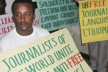 KENYA ETHIOPIA JOURNALIST PROTEST