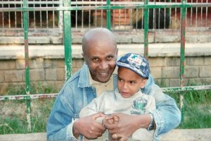 Eskinder Nega and son Nafkot