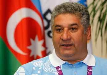 Milli says Azerbaijani Minister of Youth and Sports Azad Rahimov threatened him over coverage of the 2015 European Games. Tuesday, June 23, 2015. (AP Photo/Dmitry Lovetsky)