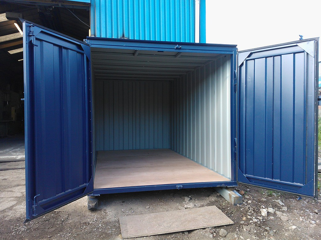 12ft X 8ft Blue New Storage Container Www Globalshippingcontainers Co Uk - Containers For Storage