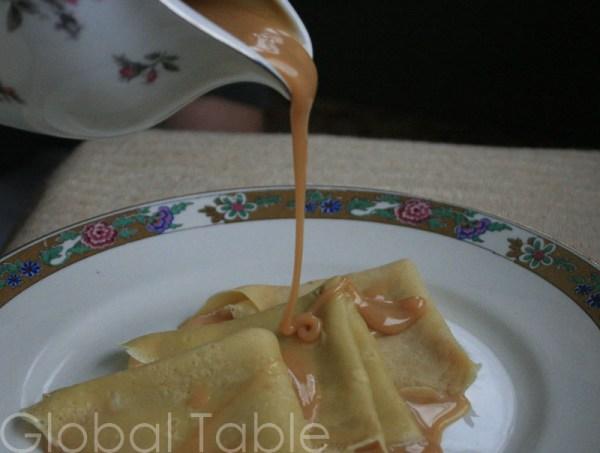 Crepes with Milk Fudge | Panqueques de Dulce de Leche | Global Table ...