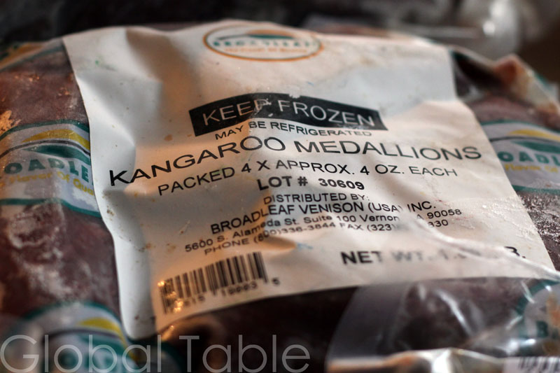 Frozen kangaroo is often less gamey because it hasn't been aged.