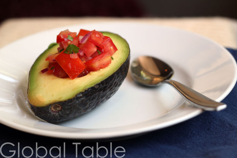 Bolivian Avocado and Tomato Salad | Global Table Adventure
