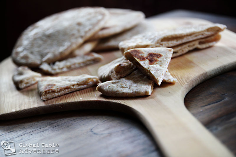 Grilled Whole Wheat Pita Bread | Global Table Adventure