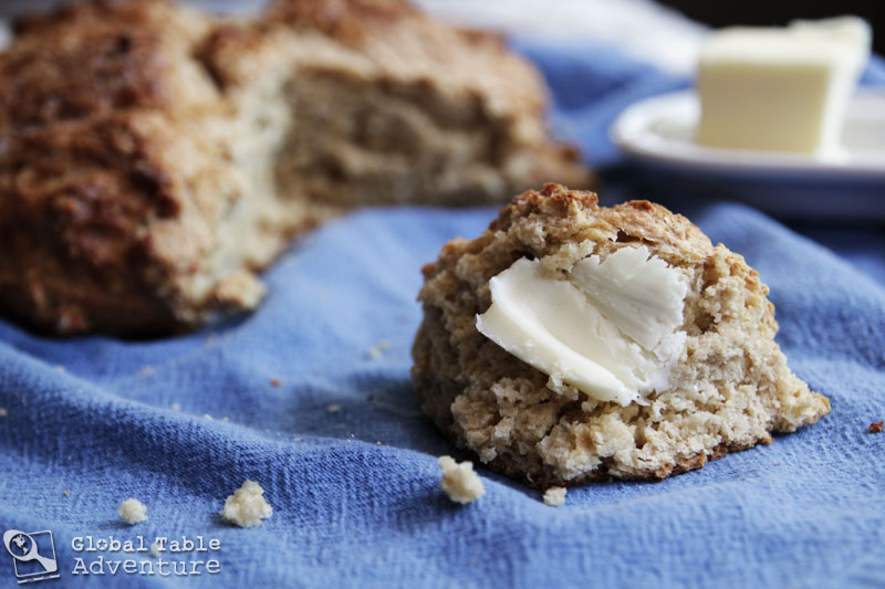 Irish Brown n' Oat Soda Bread | Global Table Adventure