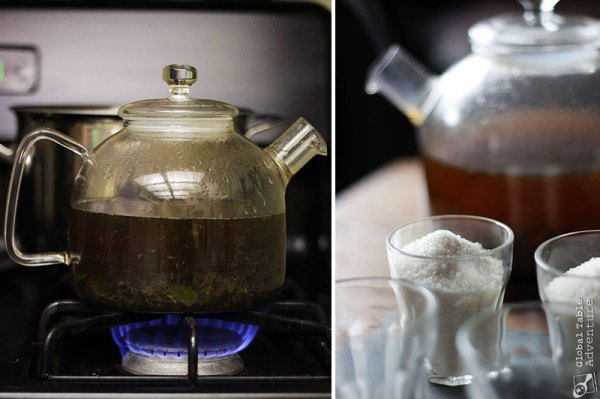 Traditional North African Green Mint Tea | Global Table ...