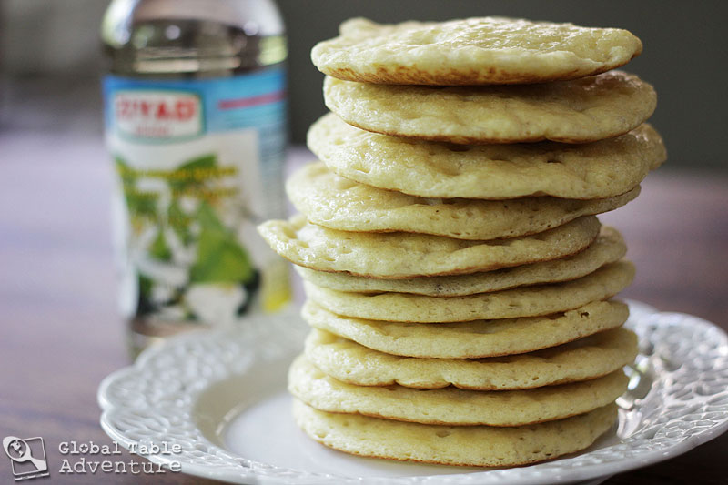 "Moroccan Honey Buttered Semolina ""Crater"" Pancakes 