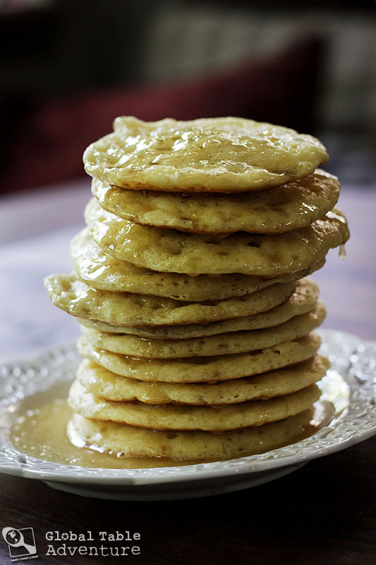 "Moroccan Honey Buttered Semolina ""Crater"" Pancakes (w ..."