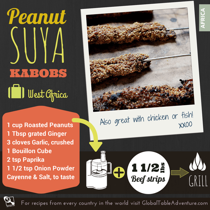 West African Peanut Kebabs | Suya | Global Table Adventure