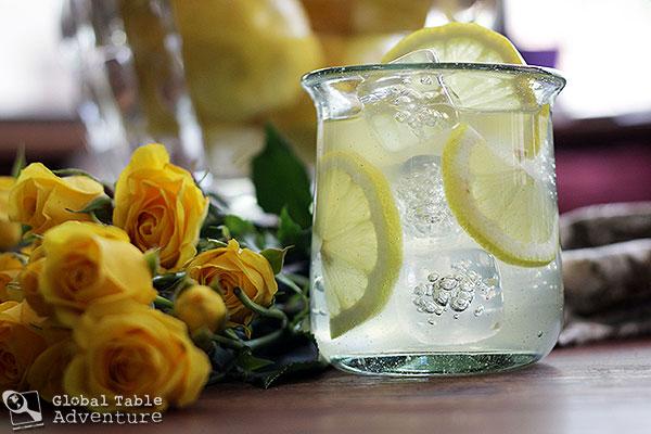 Rose Water Lemonade | Global Table Adventure