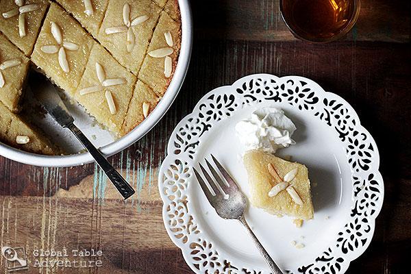 Sweet Semolina Cake with Lemon & Rose water | Basboosa ...
