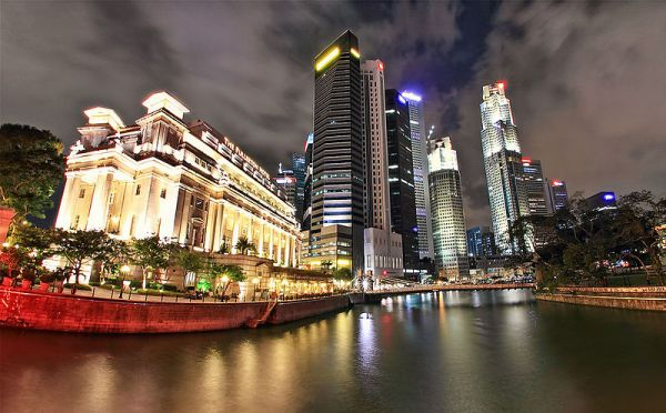 Downtown Raffles Place by Dem Romero