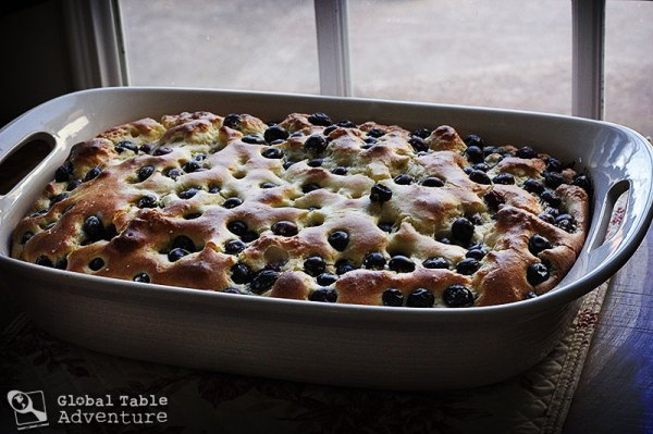 Blueberry Bublanina | Bubbly Cake | Global Table Adventure