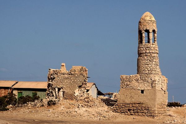 Photo of the ancient mosque of Zeila in Somali. -Walter Callens