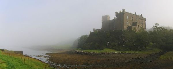 Dunvegan Castle on the Isle of Skye in the mist. Photo by Klaus.