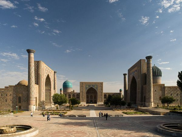 The Registan Square in Samarkand, Uzbekistan. Photo by  Gustavo Jeronimo.