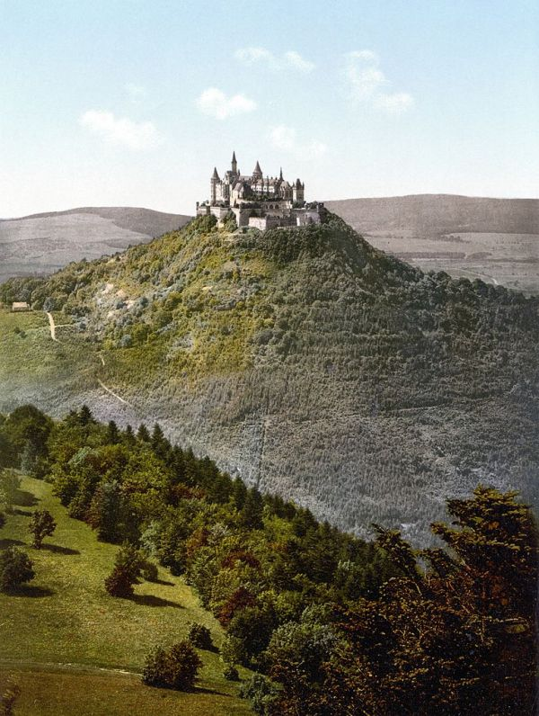 Castle Hohenzollern. Photo from between 1890 and 1905, by Photoglob AG, Zürich, Switzerland or Detroit Publishing Company, Detroit, Michigan.